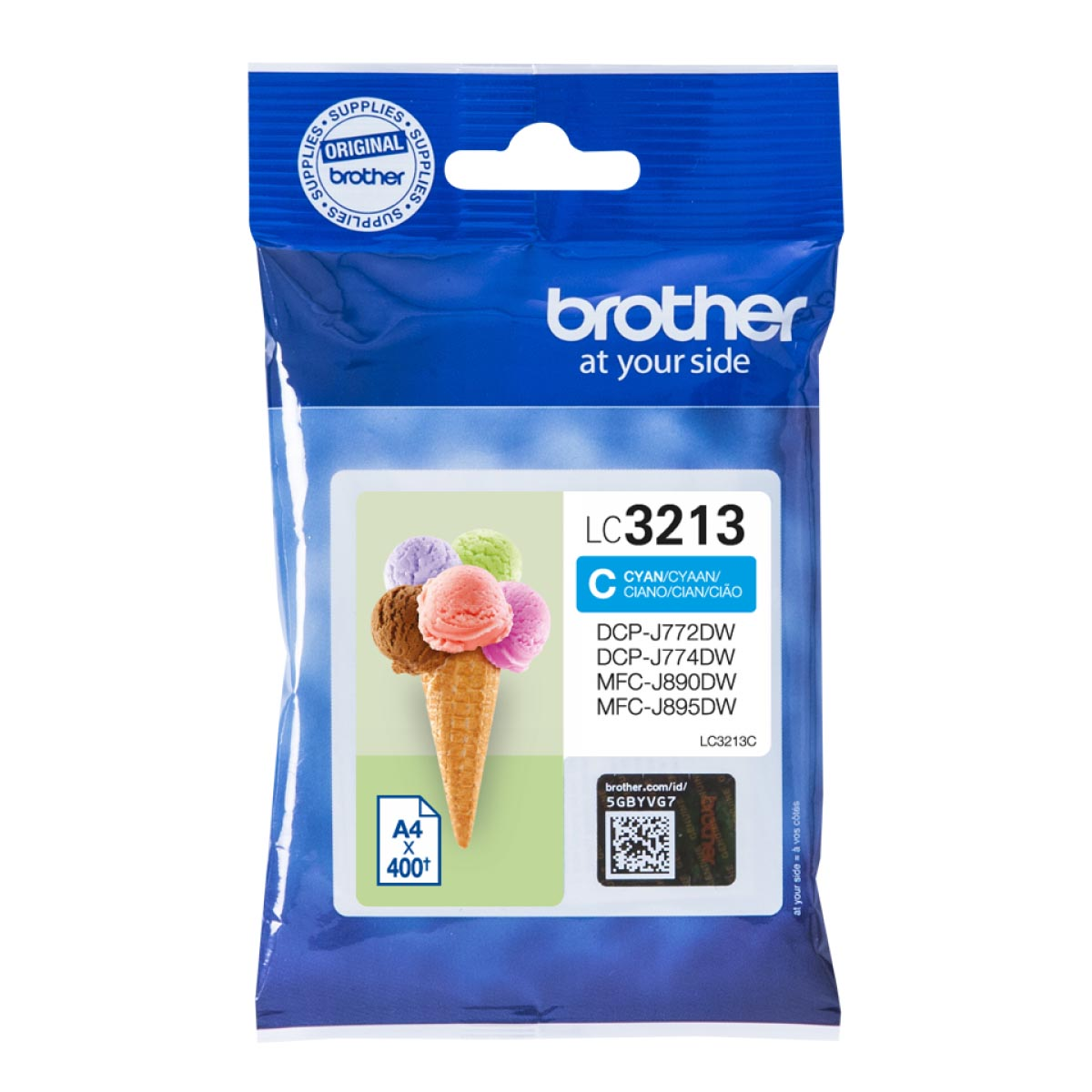 Cartucho de tinta original Brother LC3213C cian