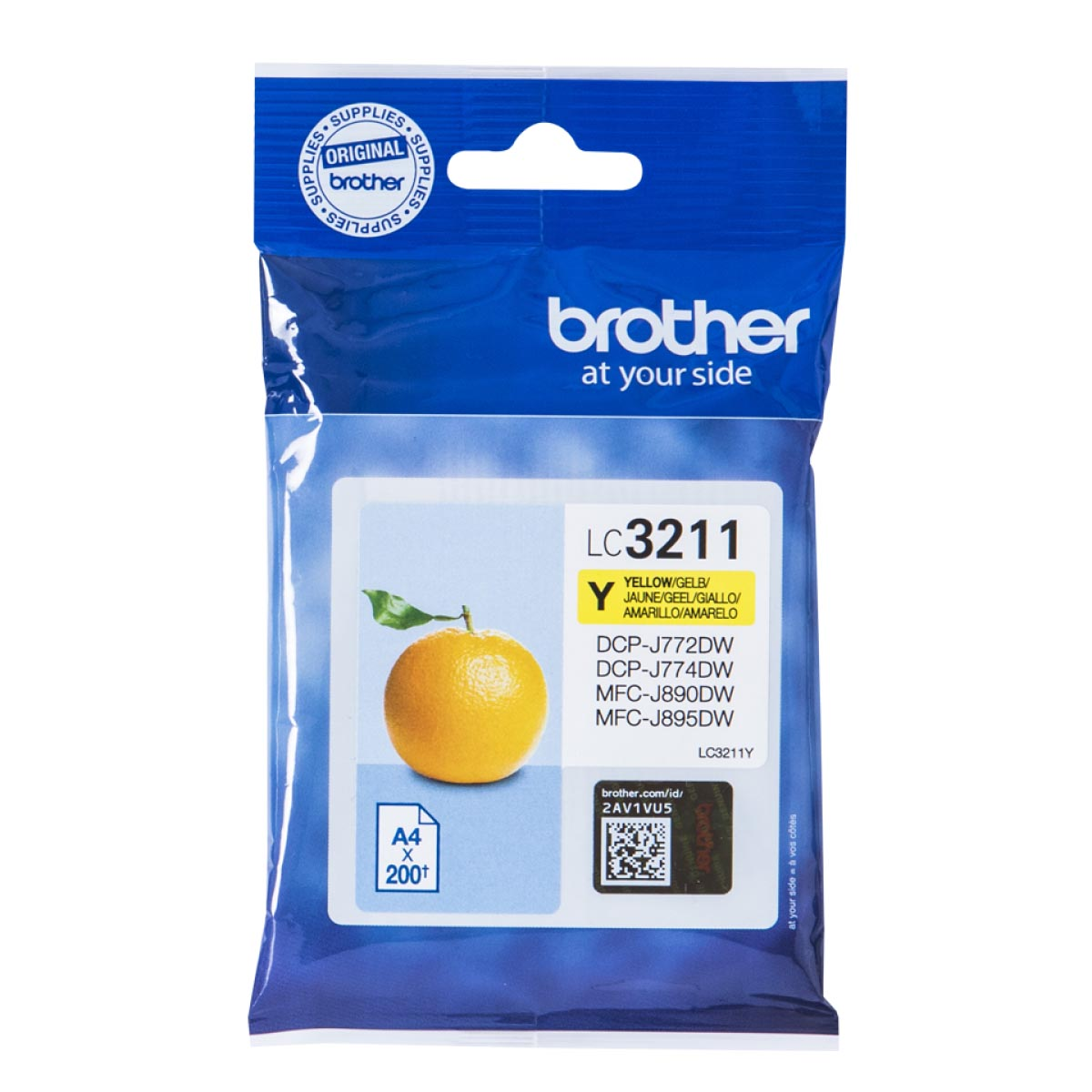 Cartucho de tinta original Brother LC3211Y amarillo