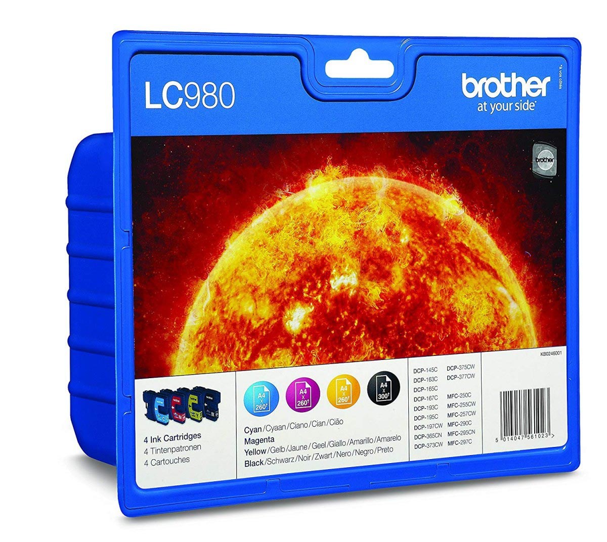 Multipack de tinta original Brother LC980VALBP 4 colores
