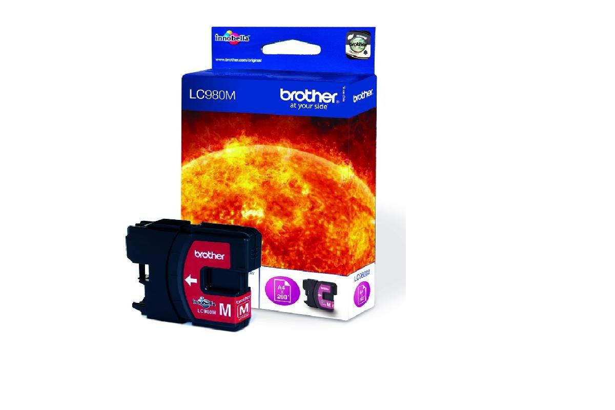 Cartucho de tinta original Brother LC980M magenta