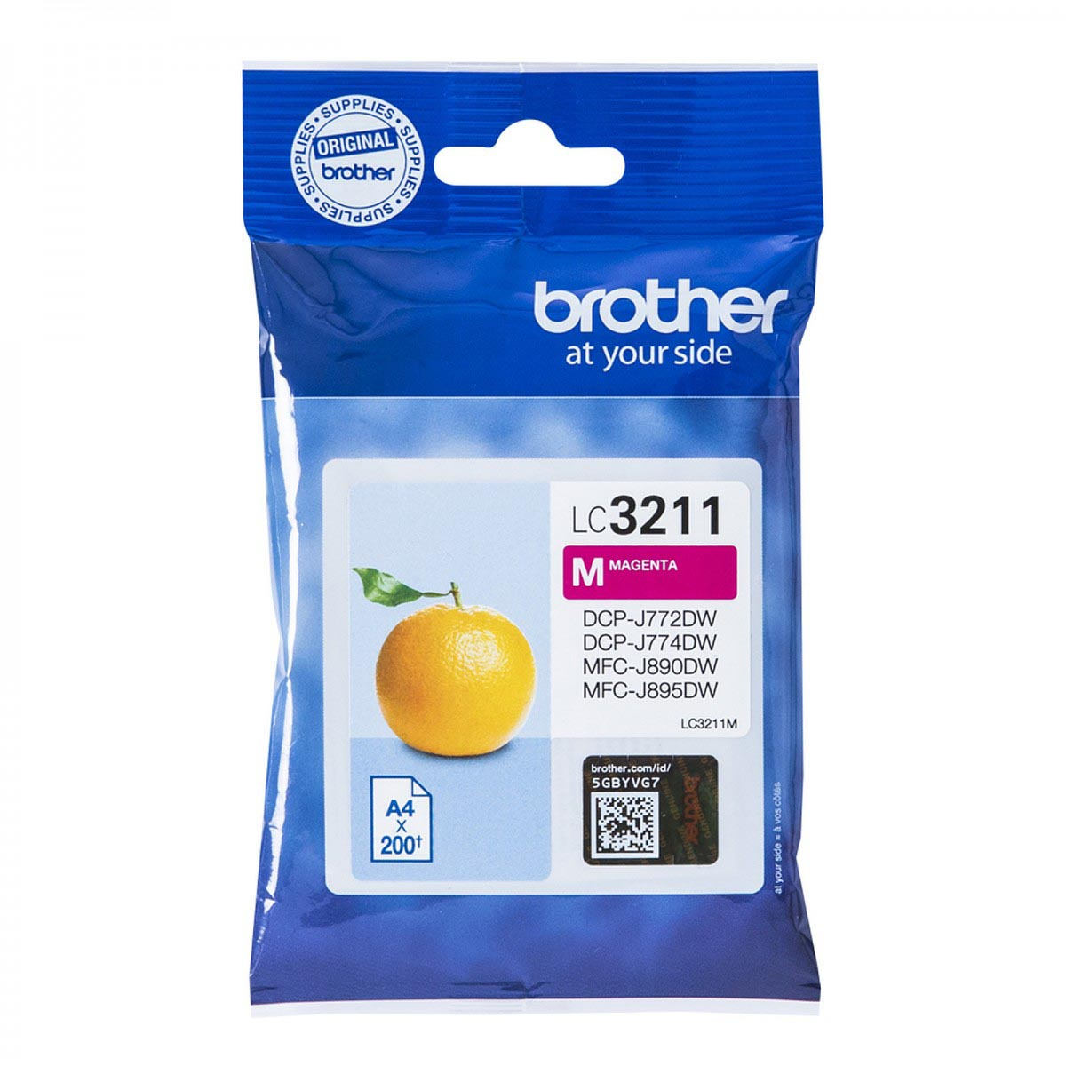 Cartucho de tinta original Brother LC3211M magenta