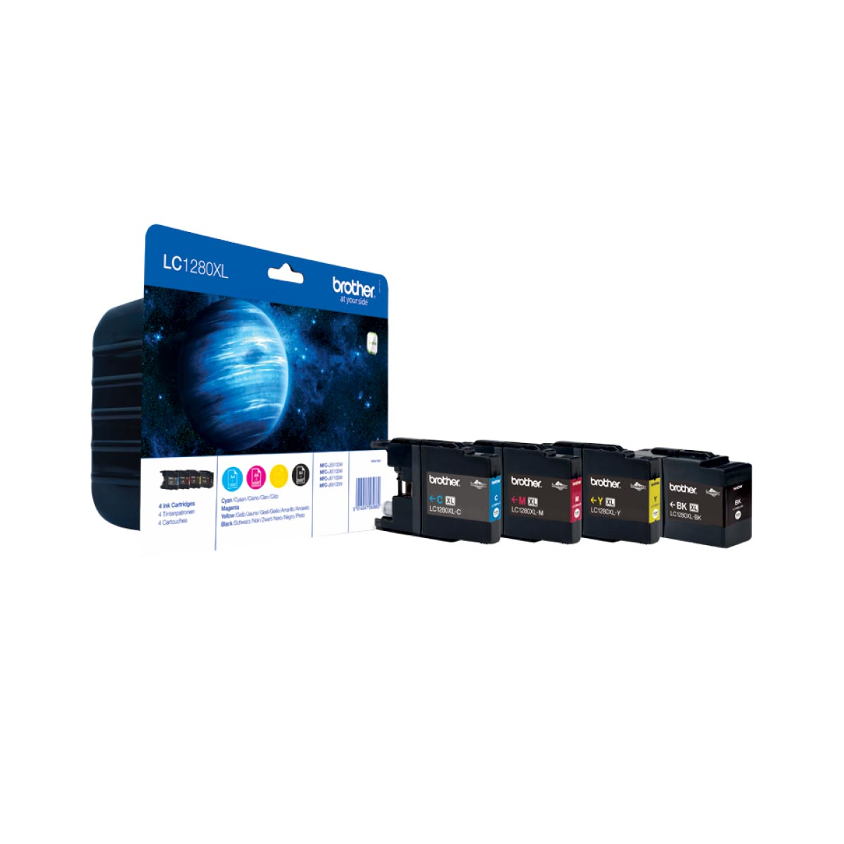Multipack de tinta original Brother LC1280XLVALBP 4 colores