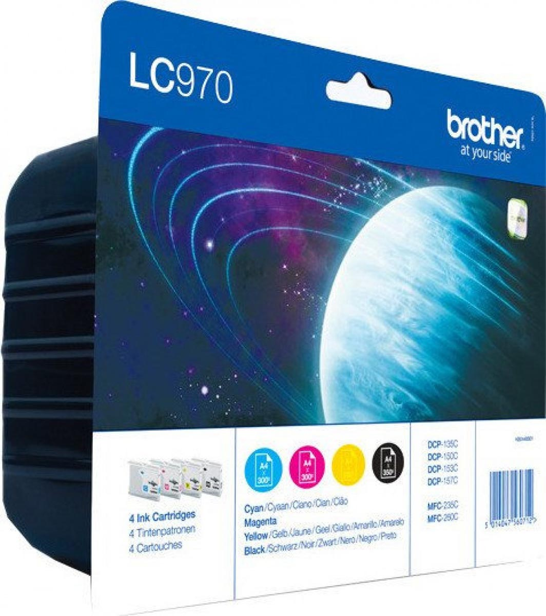 Multipack de tinta original Brother LC970VALBP 4 colores