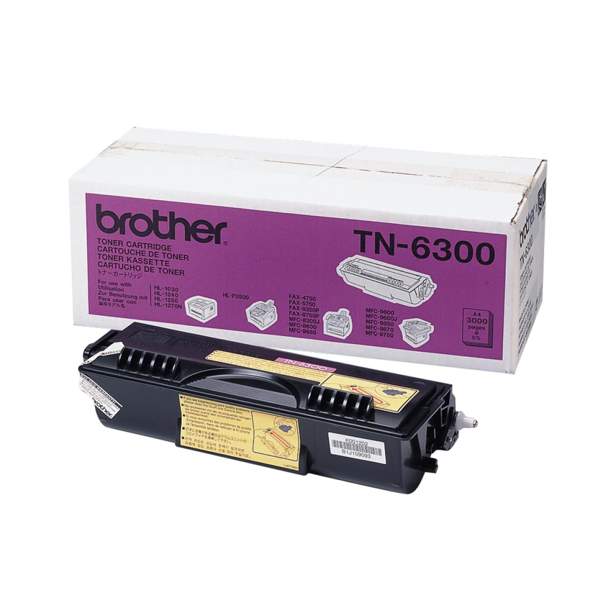 Cartucho de tóner original Brother TN6300 negro