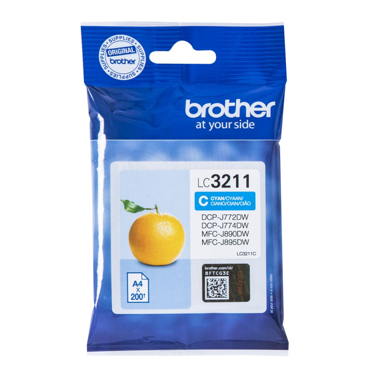 Cartucho de tinta original Brother LC3211C cian