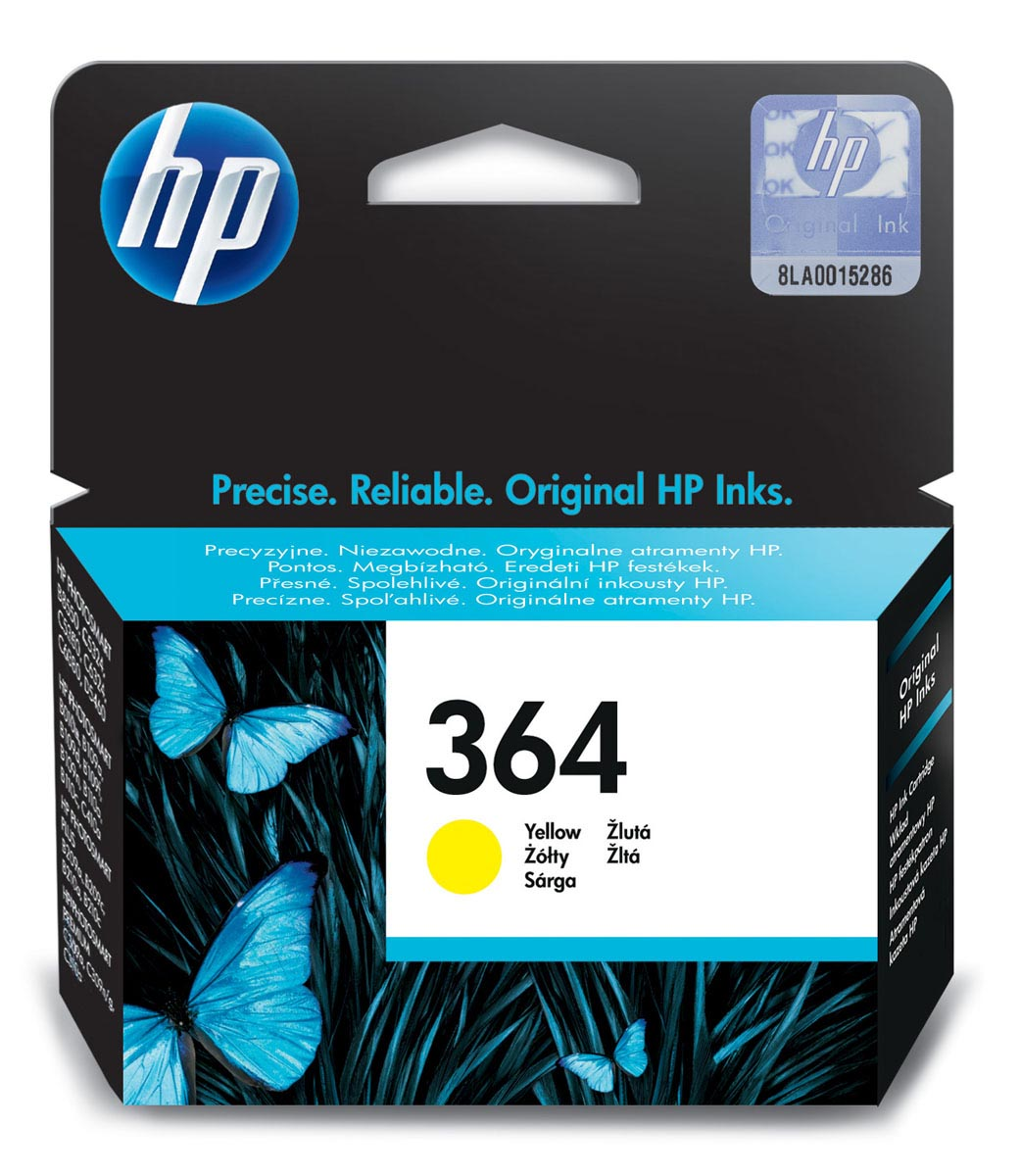 Cartucho de tinta original HP 364 amarillo