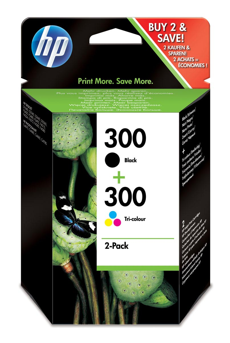 MULTIPACK HP 300 NEGRO + TRICOLOR ORIGINAL | CN637EE