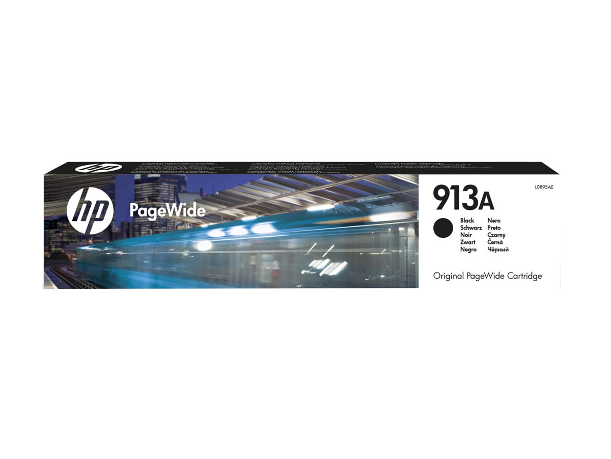 Cartucho PageWide de tinta original HP 913A negro