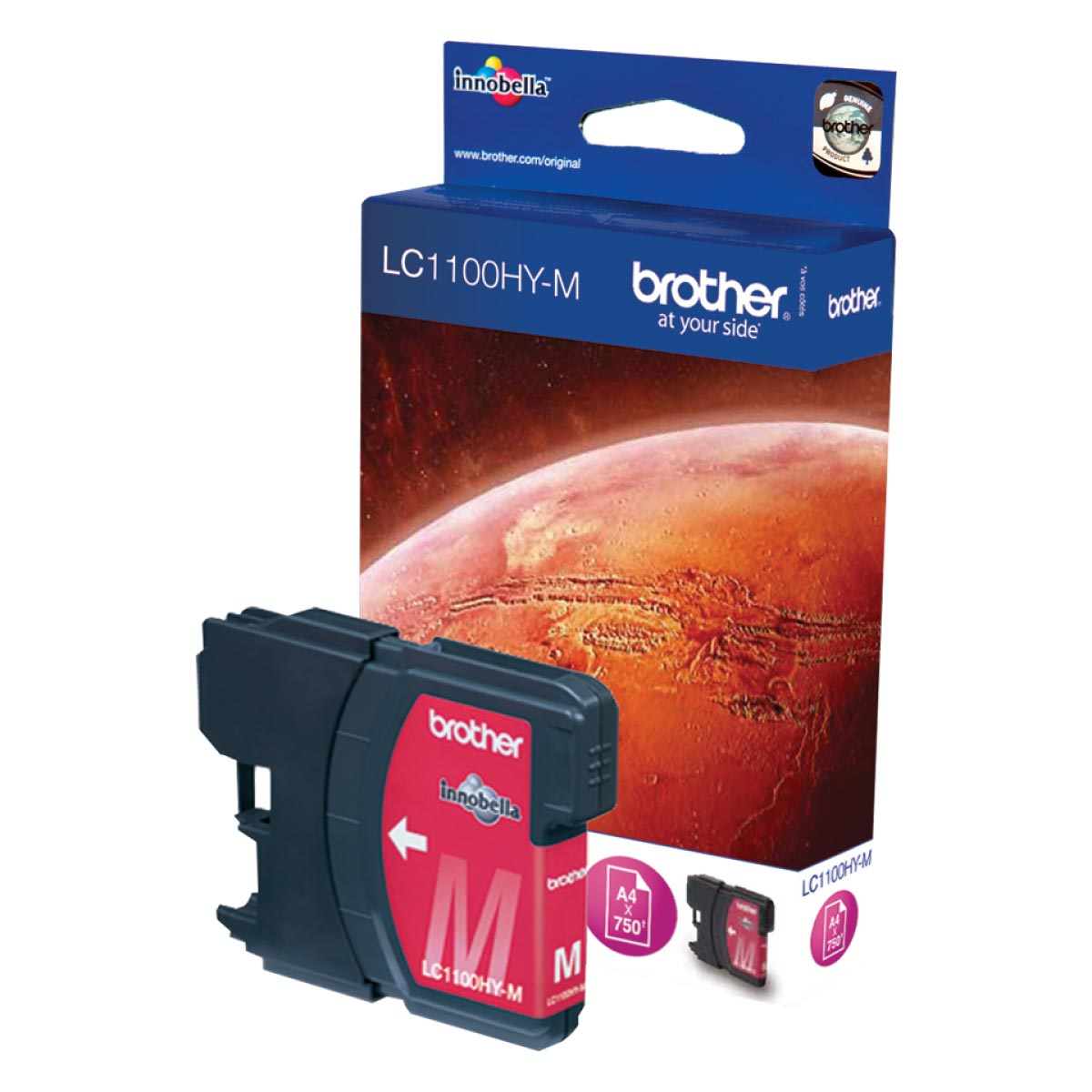 Cartucho de tinta original Brother LC1100HYM magenta alta capacidad