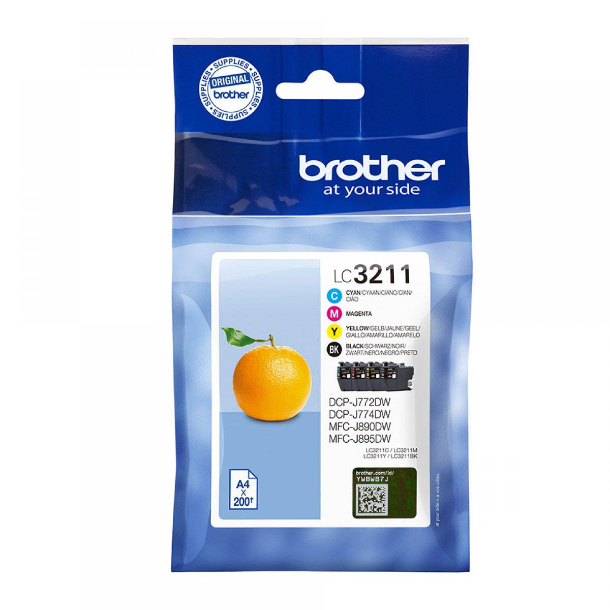 Multipack de tinta original Brother LC3211VAL 4 colores