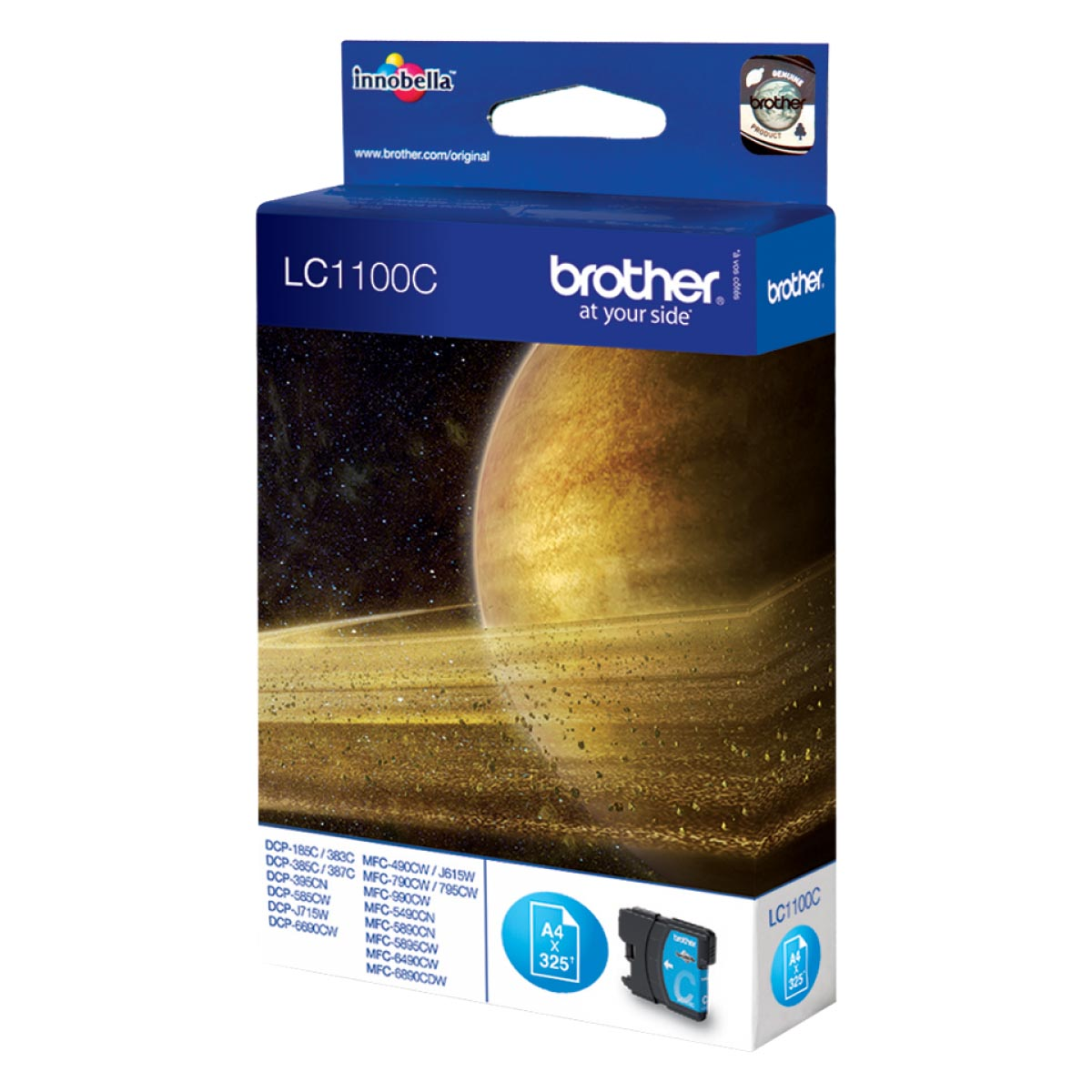 Cartucho de tinta original Brother LC1100C cian