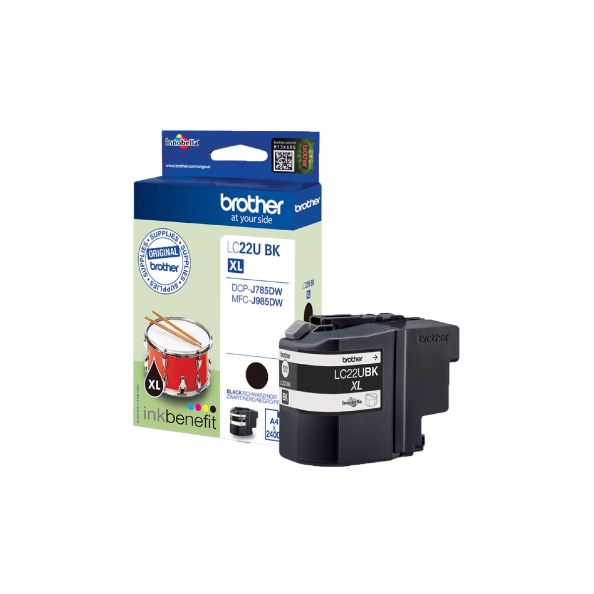 Cartucho de tinta original Brother LC22UBK negro