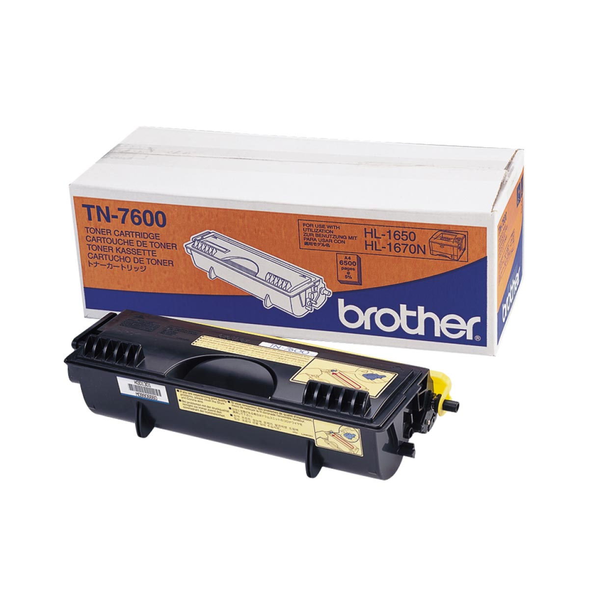 Cartucho de tóner original Brother TN7600 negro