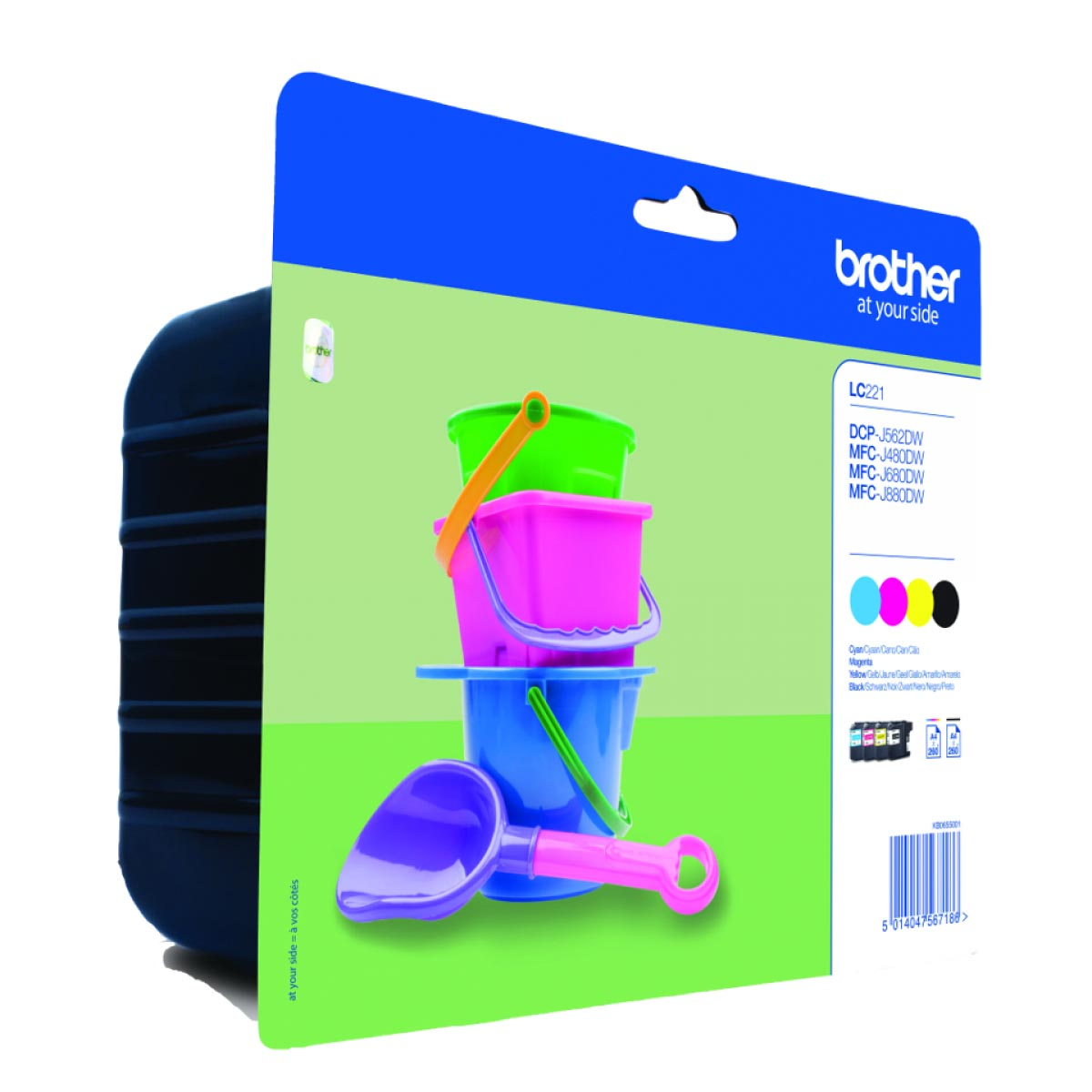 Multipack de tinta original Brother LC221VALBP 4 colores